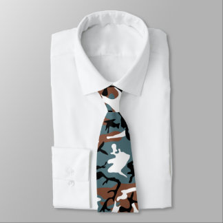 Winter Lake Camouflage Neck Tie