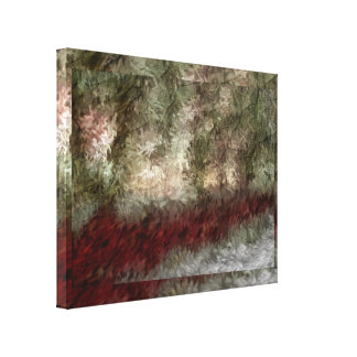 Winter Lake Impressionistic Painting Canvas Print