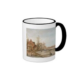 Winter Landscape, 1623 Ringer Coffee Mug