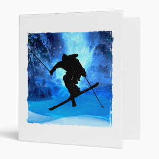 Winter Landscape and Freestyle Skier Binder