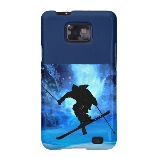 Winter Landscape and Freestyle Skier Samsung Galaxy S Cases