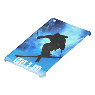 Winter Landscape and Freestyle Skier iPad Mini Cover