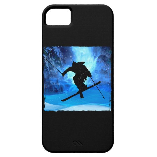 Winter Landscape and Freestyle Skier iPhone SE/5/5s Case