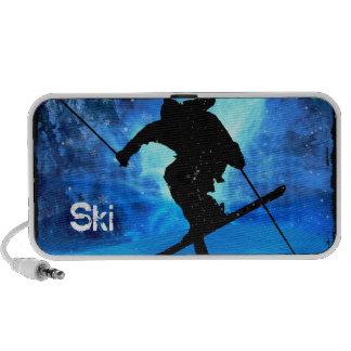 Winter Landscape and Freestyle Skier iPod Speaker