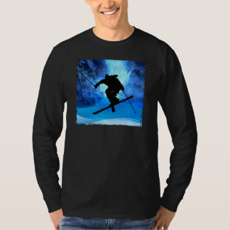 Winter Landscape and Freestyle Skier T-Shirt