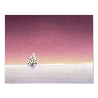 Winter landscape art little tree snow Unspoiled Card