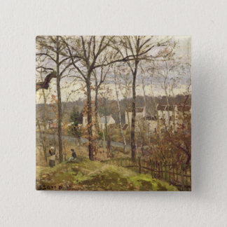 Winter Landscape at Louveciennes, c.1870 Button