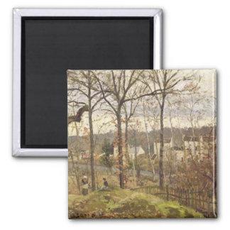 Winter Landscape at Louveciennes, c.1870 Magnets