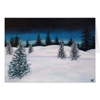 Winter Landscape Blank Card