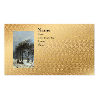 Winter Landscape Double-Sided Standard Business Cards (Pack Of 100)