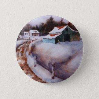 Winter Landscape Button