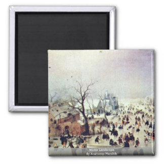 Winter Landscape By Avercamp Hendrik Magnet