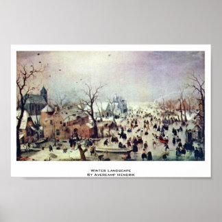 Winter Landscape By Avercamp Hendrik Poster