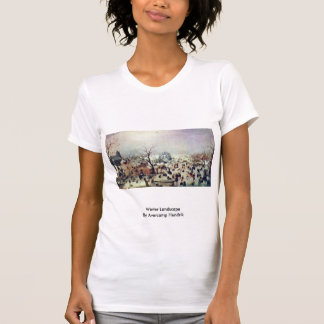 Winter Landscape By Avercamp Hendrik T-shirt