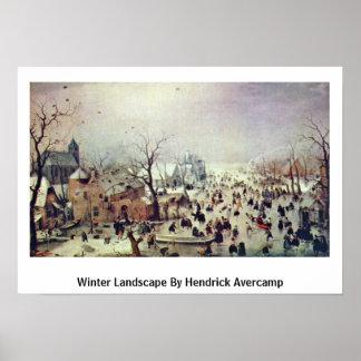 Winter Landscape By Hendrick Avercamp Poster
