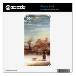 Winter Landscape by Rembrandt Harmenszoon van Rijn Skins For iPhone 4S