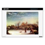 Winter Landscape by Rembrandt Harmenszoon van Rijn Acer Chromebook Decal