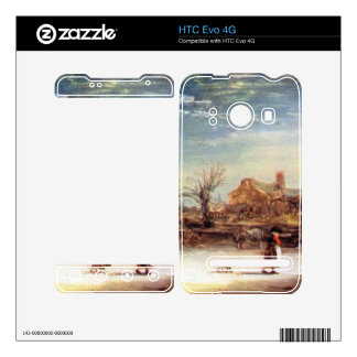 Winter Landscape by Rembrandt Harmenszoon van Rijn Decal For HTC Evo 4G