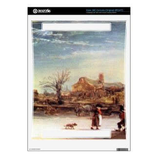 Winter Landscape by Rembrandt Harmenszoon van Rijn Skins For The Xbox 360