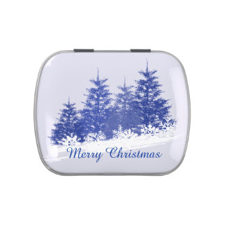 Winter landscape candy tin