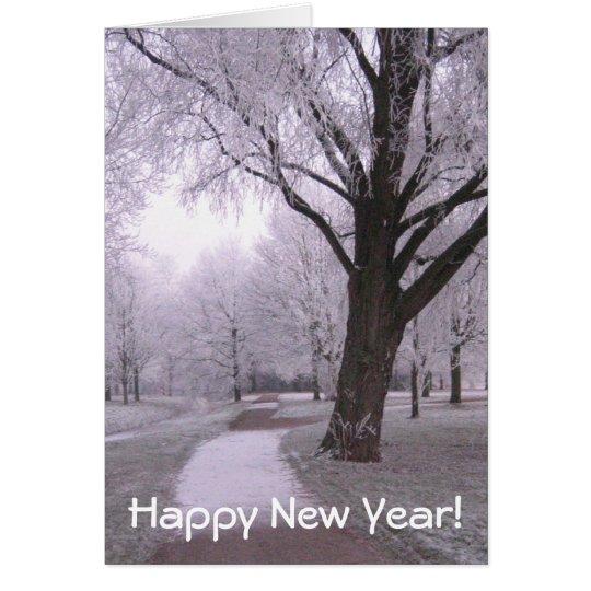 Winter landscape card