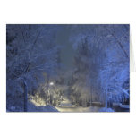 Winter Landscape Christmas Greeting Card. Card