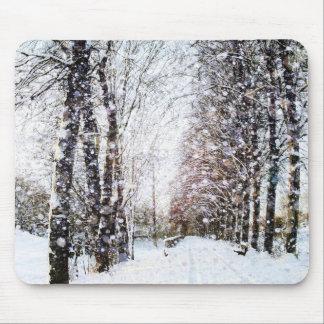 Winter landscape Christmas Mousepad