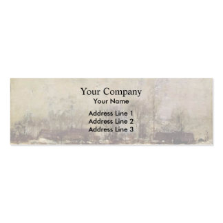 Winter Landscape, Cincinnati by John Twachtman Business Card Template