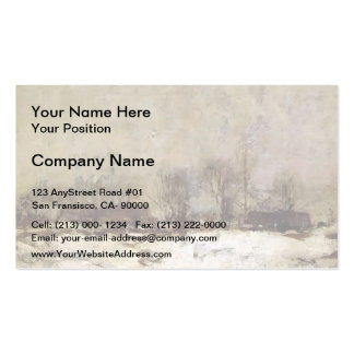 Winter Landscape, Cincinnati by John Twachtman Business Cards