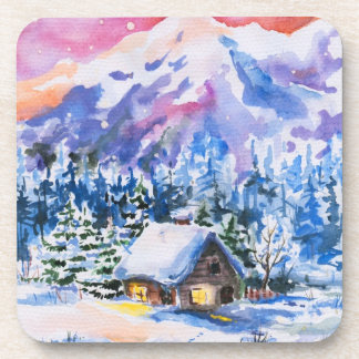 Winter landscape coaster
