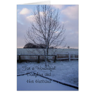Winter Landscape Daughter Husband Christmas Card
