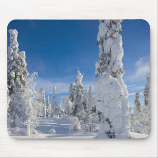 Winter landscape in Lappland Mouse Pad