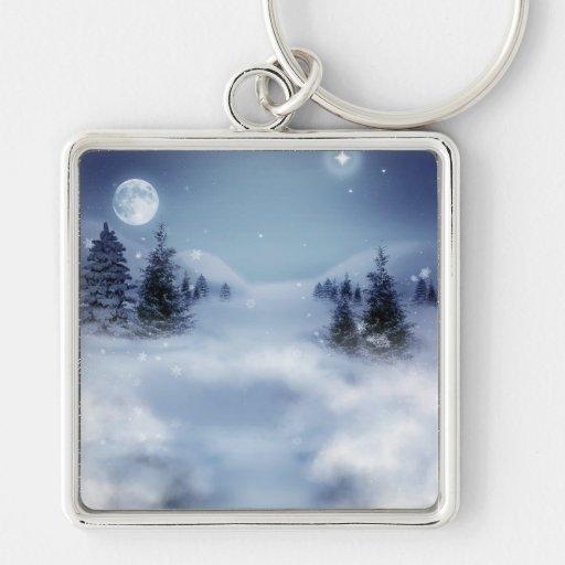 Winter Landscape Key Chain