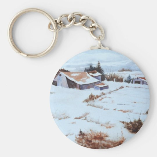 Winter Landscape Keychain
