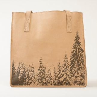 Winter landscape Leather Tote. Tote
