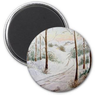Winter Landscape Fridge Magnet