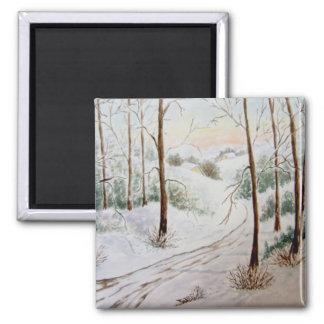 Winter Landscape Refrigerator Magnets