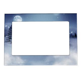 Winter Landscape Photo Frame Magnets