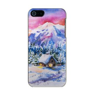 Winter landscape metallic phone case for iPhone SE/5/5s