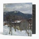 Winter landscape near Kutterling, 1899 Vinyl Binder