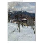 Winter landscape near Kutterling, 1899 Greeting Cards