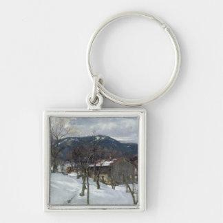 Winter landscape near Kutterling, 1899 Key Chains