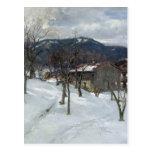 Winter landscape near Kutterling, 1899 Postcard