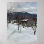 Winter landscape near Kutterling, 1899 Print