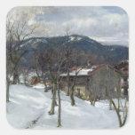 Winter landscape near Kutterling, 1899 Square Sticker