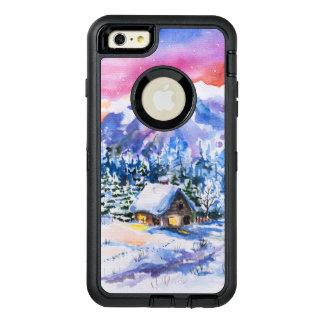 Winter landscape OtterBox defender iPhone case