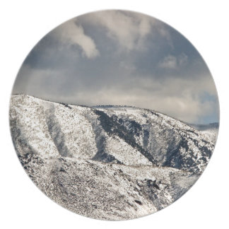 WINTER LANDSCAPE OVER SIERRA NEVADA PARTY PLATE