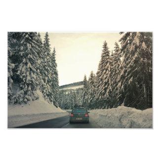 Winter landscape photo art