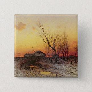 Winter Landscape Pinback Button
