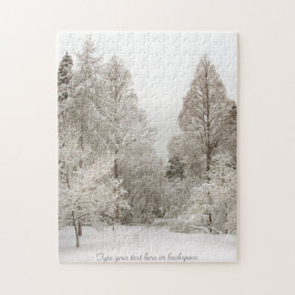 Winter Landscape Puzzle Personalized Winter Trees